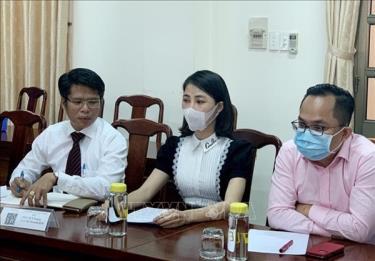 Chủ tài khoản Thơ Nguyễn làm việc với cơ quan chức năng ngày 15/3 tại Bình Dương.