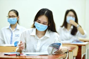 Thí sinh thi tốt nghiệp THT năm 2020 ở Hà Nội.