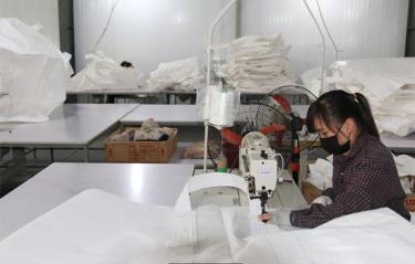 Sản xuất bao bì tại Công ty cổ phần Khoáng sản Red Stone tại Khu Công nghiệp phía Nam.