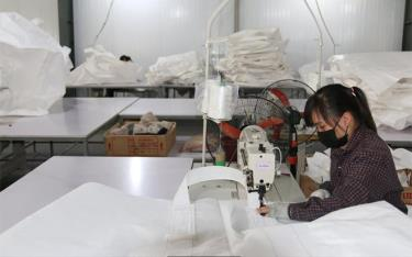 Packaging production at Red Stone Mineral joint Stock Company at Southern Industrial Park.