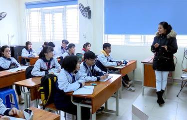 Một giờ học của cô và trò Trường THPT Chuyên Nguyễn Tất Thành.