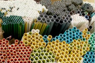 Ống nhựa sạch PPR siêu bền của Công ty TNHH Yên Phú. (Ảnh: Quang Tuấn)