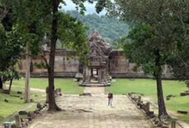 Đền cổ Preah Vihear là tâm điểm tranh cãi về biên giới giữa Campuchia và Thái Lan.