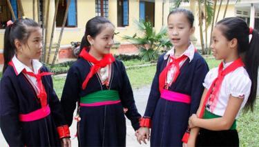 Học sinh Trường PTDTNT THCS huyện Văn Chấn.
