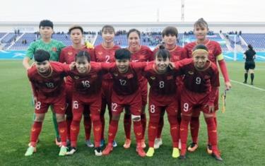 ĐT nữ Việt Nam đang tạm dẫn đầu bảng B vòng loại thứ 2 Olympic Tokyo 2020 (