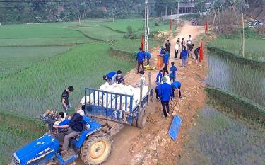 Các cơ sở Đoàn tích cực hưởng ứng xây dựng nông thôn mới ngay từ những tháng đầu năm 2019.