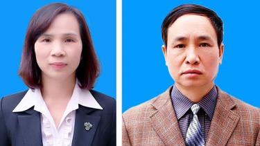 Bị can Triệu Thị Chính (trái) và bị can Phạm Văn Khuông.