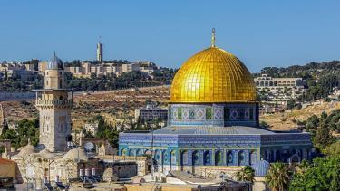Thánh đường al-Aqsa khi chưa bị cháy.