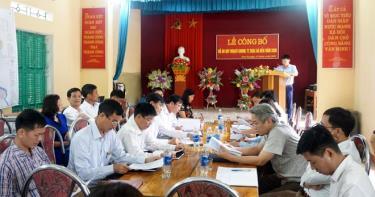 Hội nghị công bố Đồ án quy hoạch thị trấn Thác Bà đến năm 2030.
