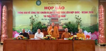Ban tổ chức thông tin về công tác chuẩn bị Đại lễ Phật đản Liên Hợp quốc – Vesak 2019.