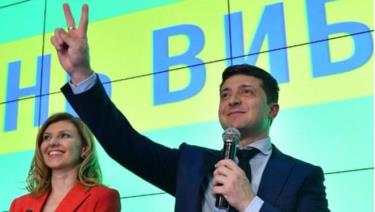 Diễn viên hài, ứng viên Tổng thống Ukraina Volodymyr Zelensky.