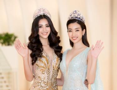 Hoa hậu Trần Tiểu Vy và Hoa hậu Đỗ Mỹ Linh là 2 đại sứ của cuộc thi Hoa hậu Thế giới Việt Nam 2019