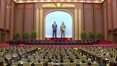 Các đại biểu tham dự kỳ họp thứ hai Hội đồng Nhân dân Tối cao (tức Quốc hội Triều Tiên) khóa 14 ở Bình Nhưỡng ngày 29/8/2019.