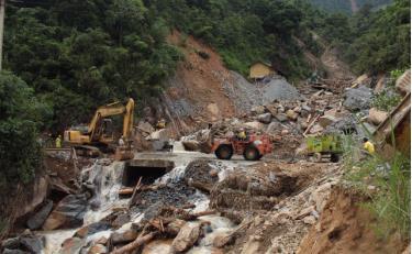 Hình ảnh thiệt hại từ một trận lũ quét ở huyện Trạm Tấu.