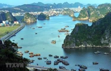 Một góc khu vực Vịnh Hạ Long, tỉnh Quảng Ninh.