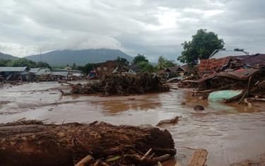 Lũ lụt và sạt lở tại huyện Đông Flores, Indonesia.