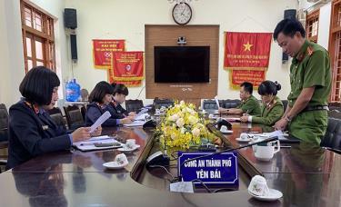 Đại diện cơ quan thi hành án hình sự Công an thành phố Yên Bái thông qua báo cáo đơn vị.