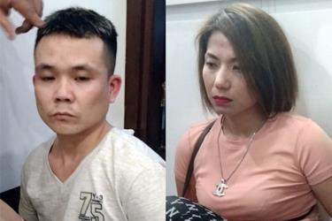 Hương Mẩu và một trong số đàn em bị bắt giữ - Ảnh: Công an cung cấp