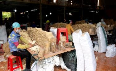 Nhờ phát triển các cơ sở chế biến gỗ rừng trồng, Tân Thịnh đã giải quyết tốt vấn đề tiêu thụ nguyên liệu, ổn định việc làm và thu nhập cho nông dân.