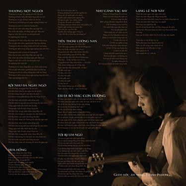 """Bìa trong album đĩa than """"Thương một người"""" của ca sĩ Quang Dũng"""