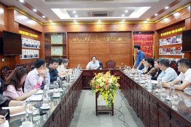 Đoàn kiểm tra của Cục Quản lý Dược, Bộ Y tế làm việc tại Sở Y tế tỉnh Yên Bái