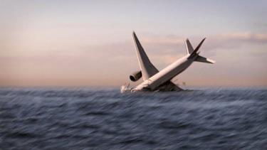 Hình ảnh 3D mô phỏng giả thuyết máy bay MH370 gặp trục trặc, rơi xuống Ấn Độ Dương.