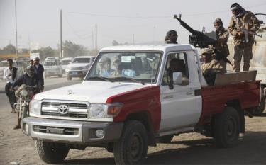 Binh sĩ Yemen tại Marib.