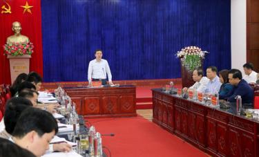 Bí thư Huyện ủy An Hoàng Linh đề nghị các địa phương cần linh hoạt, sáng tạo, mạnh dạn trong lãnh đạo, chỉ đạo để xây dựng NTM bền vững.