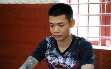 Đối tượng Trịnh Minh Hiếu tại cơ quan điều tra.