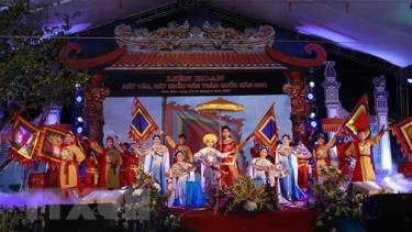 Một tiết mục hát văn của Trung tâm văn hóa Vĩnh Phúc tại  Liên hoan hát Văn, hát Chầu Văn toàn quốc năm 2021.