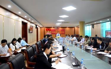 Ngành thuế tổ chức Hội nghị trực tuyến với 6 điểm cầu đặt tại chi cục thuế huyện, thành phố, khu vực để triển khai phương hướng nhiệm vụ tháng 4 và quý II/2021.