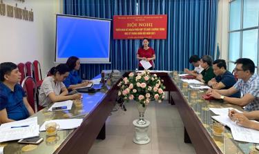 Đồng chí Đoàn Thị Thanh Tâm - Bí thư Tỉnh đoàn phát biểu tại Hội nghị.