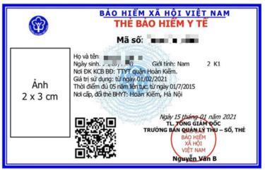 Mẫu thẻ BHYT mới sẽ được cấp cho người dân từ ngày 1-4-2021