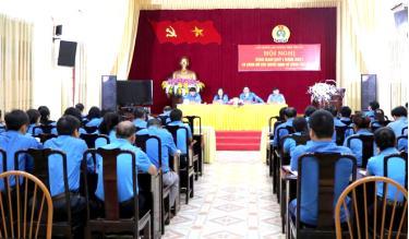 Liên đoàn Lao động tỉnh tổ chức hội nghị giao ban quý I, triển khai nhiệm vụ quý II năm 2021.