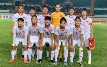 Đội hình ra sân của U19 nữ Việt Nam trước U19 nữ Trung Quốc