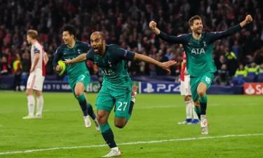 Ba bàn thắng của Lucas giúp Tottenham lần đầu vào chung kết Champions League.
