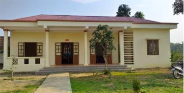 Trụ sở Công an xã Yên Bình mới được đầu tư xây dựng.