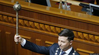 Tổng thống Ukraine Volodymyr Zelenskiy tuyên thệ nhậm chức ngày 20/5.