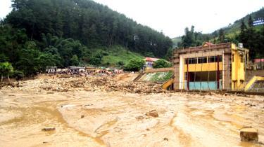 Trận lũ quét xảy ra năm 2017 gây thiệt hại rất nặng nề cho huyện Mù Cang Chải.