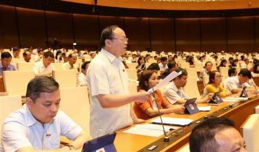 Đại biểu Quốc hội tỉnh Yên Bái Giàng A Chu phát biểu ý kiến.