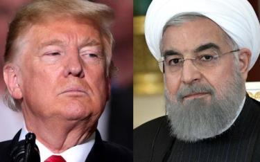 Tổng thống Mỹ Trump và Tổng thống Iran Rouhani