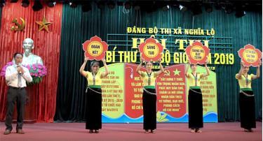 Phần thi của thí sinh Bùi Anh Toán - Bí thư Chi bộ, Hiệu trưởng Trường TH&THCS Nguyễn Quang Bích trong Hội thi Bí thư Chi bộ giỏi của Đảng bộ thị xã Nghĩa Lộ năm 2019.