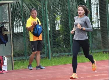 Điền kinh Việt Nam nỗ lực tập luyện trở lại để giành vé chính thức tới Olympic 2021.