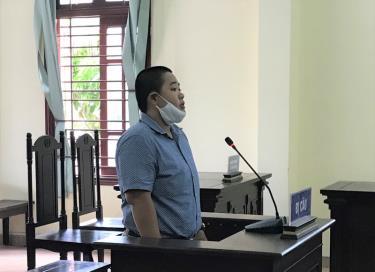 Bị cáo Mã Phùng Ngọc Phú tại phiên tòa.