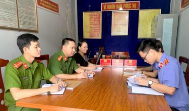 Công an xã Tân Đồng triển khai nhiệm vụ đấu tranh phòng chống tội phạm.