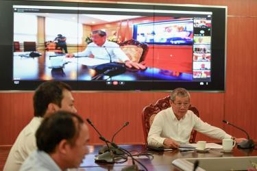 Tại sự kiện, Thứ trưởng Nguyễn Thành Hưng thực hiện cuộc họp trực tuyến đầu tiên qua Zavi để chỉ đạo công việc từ xa với Sở TTTT Hà Giang, Sở TTTT Quảng Ninh.