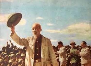Bác Hồ đến thăm đơn vị không quân Sao Đỏ tại sân bay Nội Bài ngày 9/11/1964.