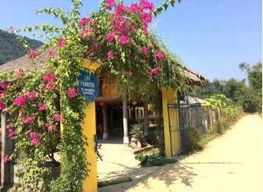 Khuôn viên Xoi Farmstay của Hoàng Thị Xới ở bản Tông Pình Cại, xã Lâm Thượng.