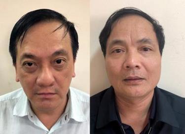 Trần Lục Lang và Kiều Đình Hòa, 2 trong số 12 bị can. Ảnh: Bộ Công an.
