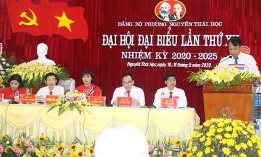 Đại hội Đảng bộ lần thứ XII, phường Nguyễn Thái Học đặt mục tiêu đến năm 2025 cơ bản đạt các tiêu chí phường loại I